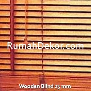 Wooden Blind 25 mm